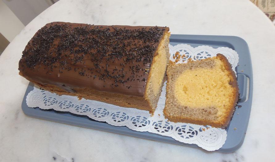 Marmorkuchen gold silber